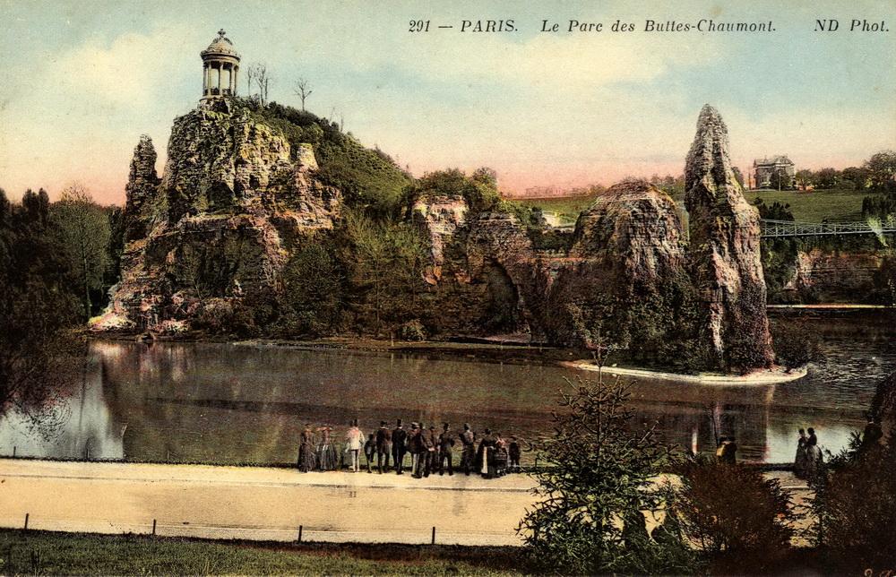 291 - Paris Le Parc des Buttes-Chaumont « Cartes postales anciennes